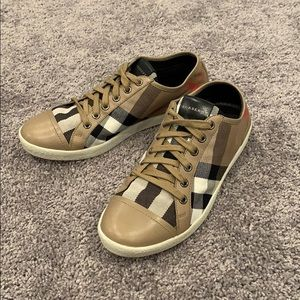 New Burberry Check Sneakers